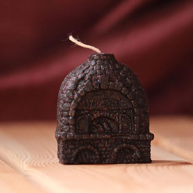 свеча домик черный