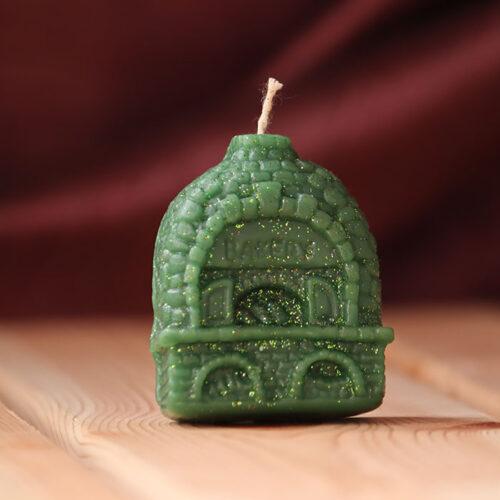свеча домик зеленый