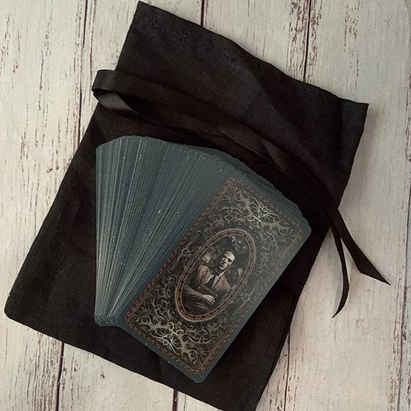 мешочек для таро темный